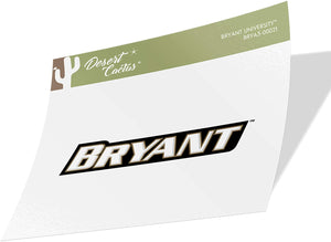 Bryant University Bulldogs NCAA Vinyl Decal Laptop Water Bottle Car Scrapbook (Sticker - 00021)