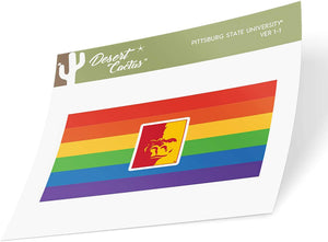 Pittsburg State University Gorillas NCAA Vinyl Pride Decal Laptop Water Bottle Car Scrapbook (Gay Flag Logo Sticker)