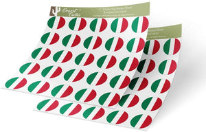 Hungary Country Flag Sticker Vinyl Decal 1 Inch Round Two Sheets 50 Total Pieces Kids Logo Scrapbook Car Laptop Hungarian C