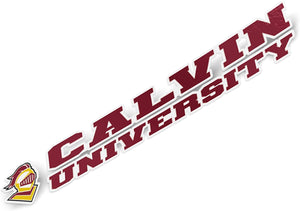 Calvin University Knights NCAA Name Logo Vinyl Decal Laptop Water Bottle Car Scrapbook (8 Inch Sticker)