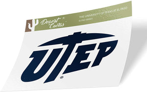 The University of Texas at El Paso UTEP Miners NCAA Vinyl Decal Laptop Water Bottle Car Scrapbook (Sticker - 00003)