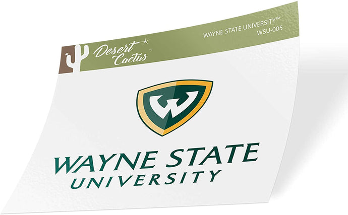 Wayne State University WSU Warriors NCAA Vinyl Decal Laptop Water Bottle Car Scrapbook (Sticker - 005)