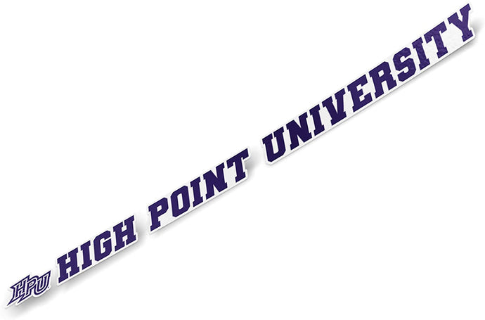 High Point University HPU Panthers NCAA Name Logo Vinyl Decal Laptop Water Bottle Car Scrapbook (15 Inch Sticker)