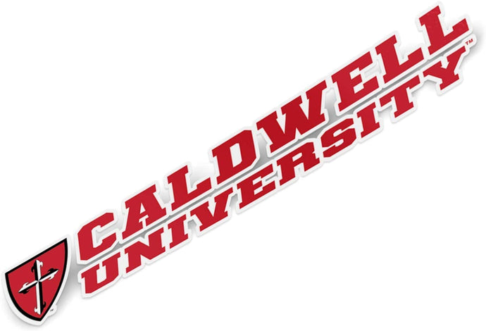 Caldwell University Cougars NCAA Name Logo Vinyl Decal Laptop Water Bottle Car Scrapbook (8 Inch Sticker)