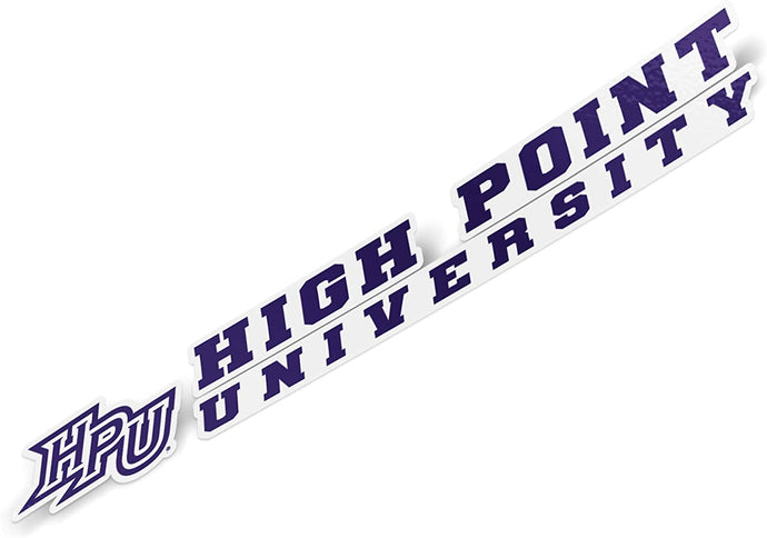 High Point University HPU Panthers NCAA Name Logo Vinyl Decal Laptop Water Bottle Car Scrapbook (8 Inch Sticker)