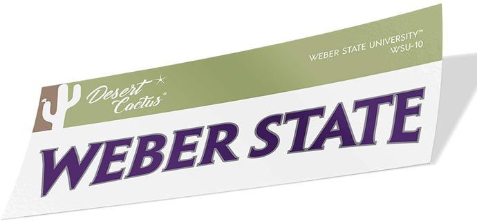 Weber State University NCAA Vinyl Decal Laptop Water Bottle Car Scrapbook (Sticker - 10)