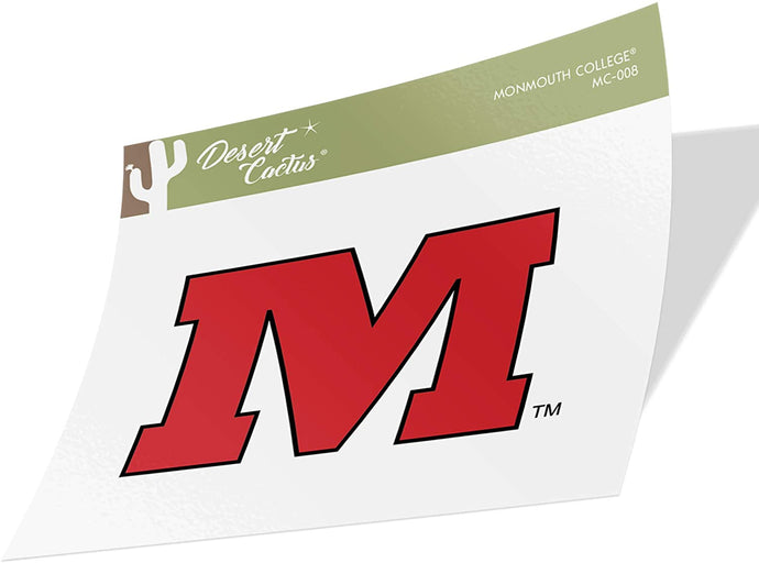 Monmouth College Fighting Scots NCAA Vinyl Decal Laptop Water Bottle Car Scrapbook (Sticker - 008)