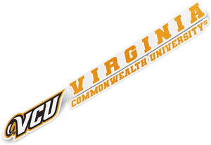 Virginia Commonwealth University VCU Rams NCAA Name Logo Vinyl Decal Laptop Water Bottle Car Scrapbook (8 Inch Sticker)