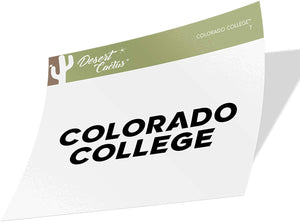 Colorado College Tigers NCAA Vinyl Decal Laptop Water Bottle Car Scrapbook (Sticker - 7)