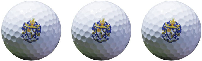 Sigma Alpha Epsilon Color Printed Unique Golf Balls (Set of 3) Licensed Product SAE (Crest Golf Balls)