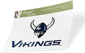 Western Washington University WWU Vikings NCAA Vinyl Decal Laptop Water Bottle Car Scrapbook (Sticker - 005)