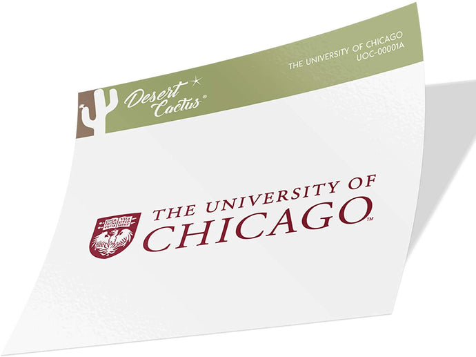 The University of Chicago UChicago Maroons NCAA Vinyl Decal Laptop Water Bottle Car Scrapbook (Sticker - 00001A)