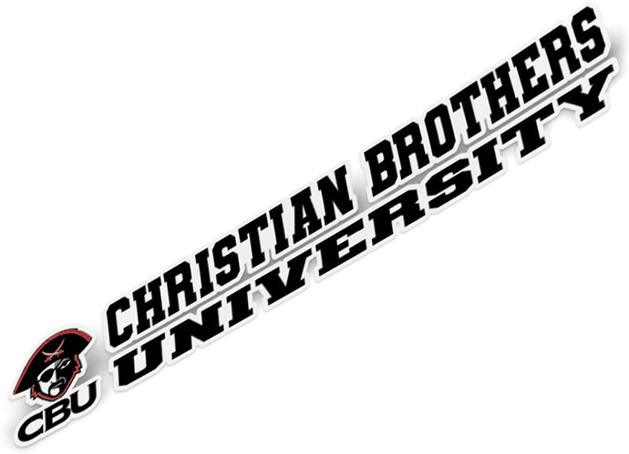 Christian Brothers University CBU Lady Buccaneers NCAA Name Logo Vinyl Decal Laptop Water Bottle Car Scrapbook (8 Inch Sticker)