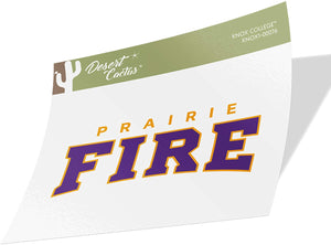 Knox College Prairie Fire NCAA Vinyl Decal Laptop Water Bottle Car Scrapbook (Sticker - 00076)