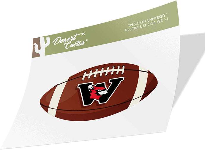 Wesleyan University Cardinals NCAA Vinyl Decal Laptop Water Bottle Car Scrapbook (Football Logo Sticker)