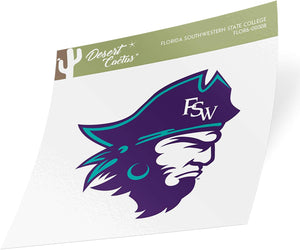 Florida SouthWestern State College The Buccaneers NCAA Vinyl Decal Laptop Water Bottle Car Scrapbook (Sticker - 00008)