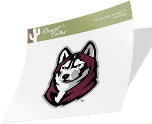 Bloomsburg University Huskies NCAA Vinyl Decal Laptop Water Bottle Car Scrapbook (Sticker - 00013A)