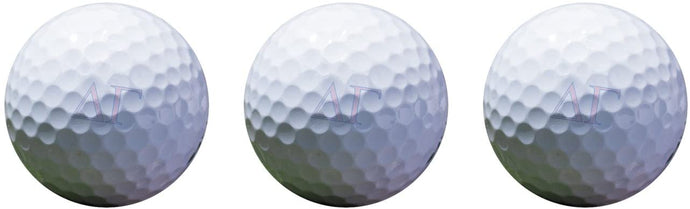 Delta Gamma Color Printed Unique Golf Balls (Set of 3) Licensed Product dg (Letter Golf Balls)