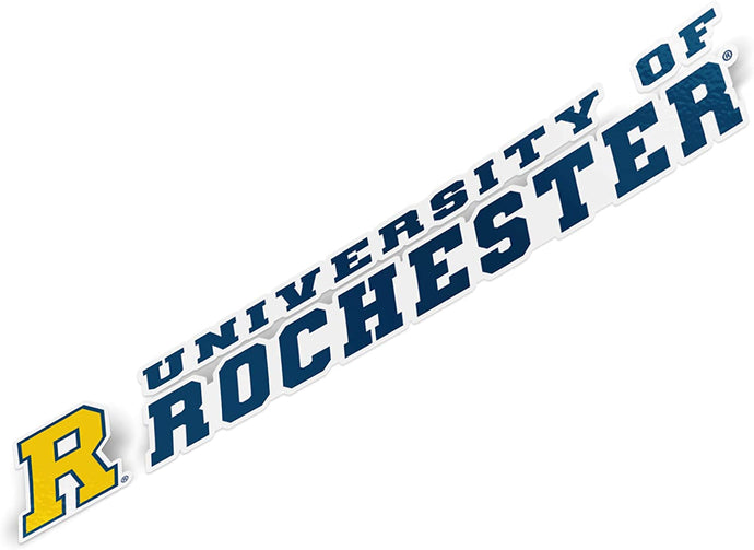 University of Rochester Yellowjackets NCAA Name Logo Vinyl Decal Laptop Water Bottle Car Scrapbook (8 Inch Sticker)