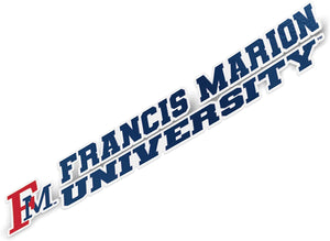 Francis Marion University FMU Patriots Pats NCAA Name Logo Vinyl Decal Laptop Water Bottle Car Scrapbook (8 Inch Sticker)
