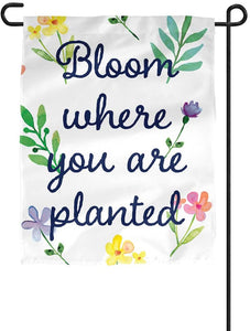 Spring 12 Inches Wide x 18 Inches Tall Double-Sided Garden Flag 100% Polyester Outside (Spring-2-01)
