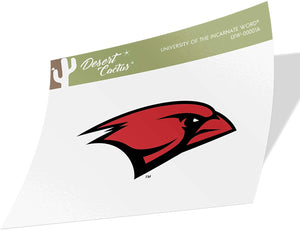 University of the Incarnate Word UIW Cardinals NCAA Vinyl Decal Laptop Water Bottle Car Scrapbook (Sticker - 00001A)