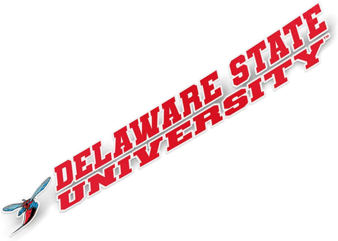 Delaware State University DSU Hornets NCAA Name Logo Vinyl Decal Laptop Water Bottle Car Scrapbook (8 Inch Sticker)