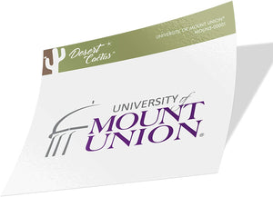 University of Mount Union Purple Raiders NCAA Vinyl Decal Laptop Water Bottle Car Scrapbook (Sticker - 00001)