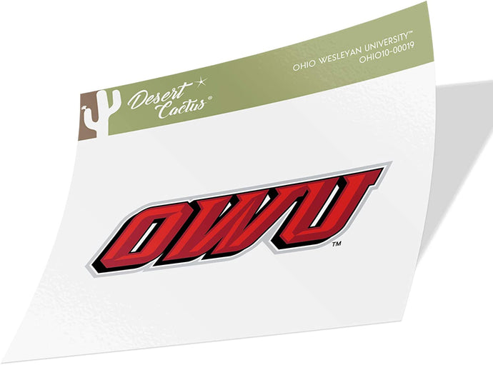 Ohio Wesleyan University OWU Battling Bishops NCAA Vinyl Decal Laptop Water Bottle Car Scrapbook (Sticker - 00019)