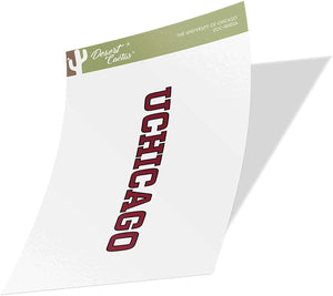 The University of Chicago UChicago Maroons NCAA Vinyl Decal Laptop Water Bottle Car Scrapbook (Sticker - 00102A)