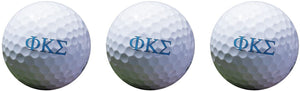 Phi Kappa Sigma Color Printed Unique Golf Balls (Set of 3) Licensed Product (Letter Golf Balls)