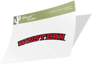Western Oregon University NCAA Vinyl Decal Laptop Water Bottle Car Scrapbook (Sticker - 006)