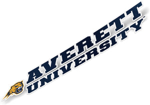Averett University Cougars NCAA Name Logo Vinyl Decal Laptop Water Bottle Car Scrapbook (8 Inch Sticker)
