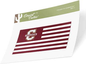 College of Charleston C of C Cougars NCAA Vinyl Decal Laptop Water Bottle Car Scrapbook (Nation Sticker)