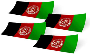 Afghanistan 4 Pack of 4 Inch Wide Country Flag Stickers Decal for Window Laptop Computer Vinyl Car Bumper Scrapbook Afghan 4