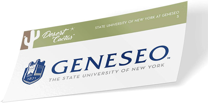 State University of New York Geneseo NCAA Vinyl Decal Laptop Water Bottle Car Scrapbook (Sticker - 3)