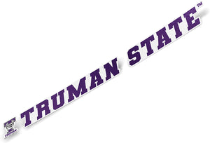 Truman State University TSU Bulldogs NCAA Name Logo Vinyl Decal Laptop Water Bottle Car Scrapbook (15 Inch Sticker)