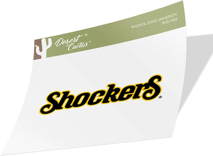 Wichita State University WSU Shockers NCAA Vinyl Decal Laptop Water Bottle Car Scrapbook (Sticker - 006)