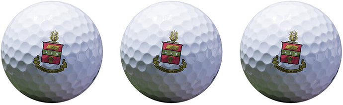 Alpha Chi Omega Color Printed Unique Golf Balls (Set of 3) Licensed Product a chi o (Crest Golf Balls)