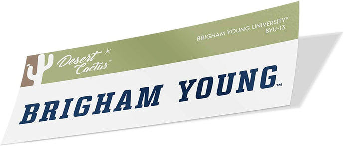Brigham Young University BYU Cougars NCAA Vinyl Decal Laptop Water Bottle Car Scrapbook (Sticker - 13)