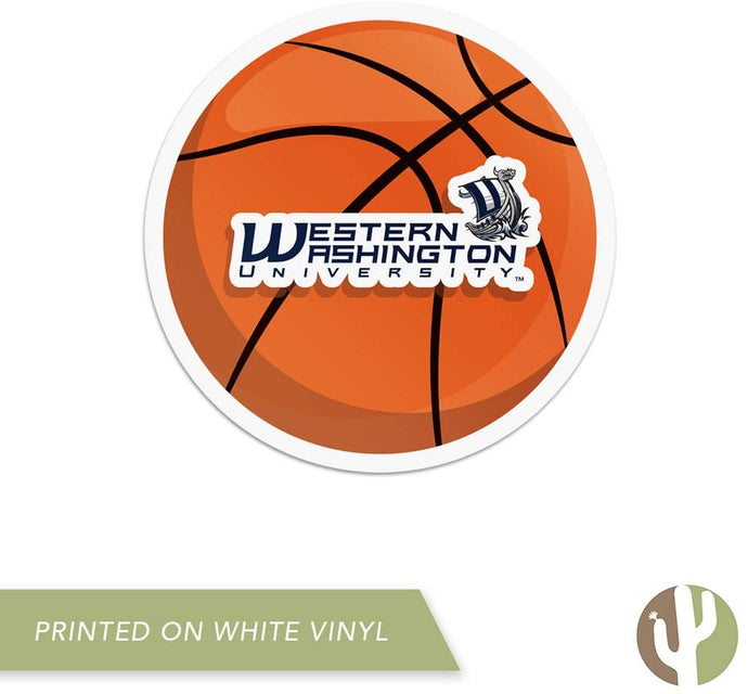 Western Washington University WWU Vikings NCAA Vinyl Decal Laptop Water Bottle Car Scrapbook (Basketball Logo Sticker)