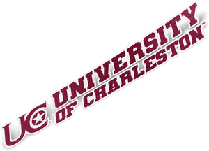 University of Charleston UC Mohar Golden Eagles NCAA Name Logo Vinyl Decal Laptop Water Bottle Car Scrapbook (8 Inch Sticker)