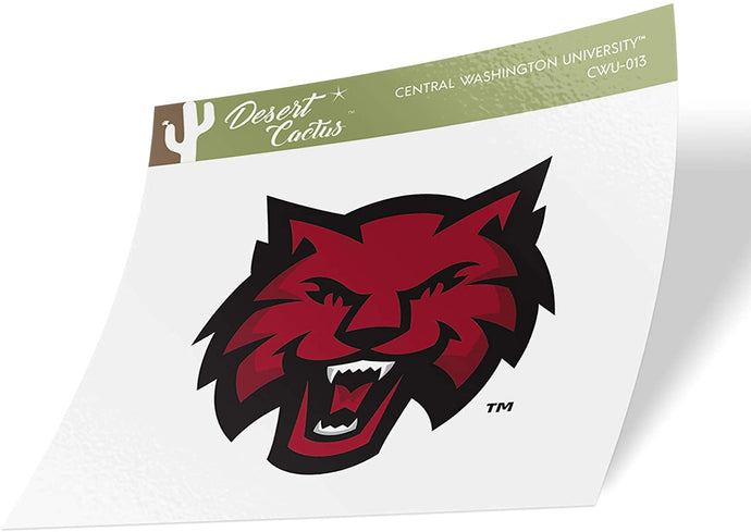 Central Washington University CWU Wildcats NCAA Vinyl Decal Laptop Water Bottle Car Scrapbook (Sticker - 13)