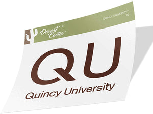 Quincy University Hawks NCAA Vinyl Decal Laptop Water Bottle Car Scrapbook (Sticker - 20)