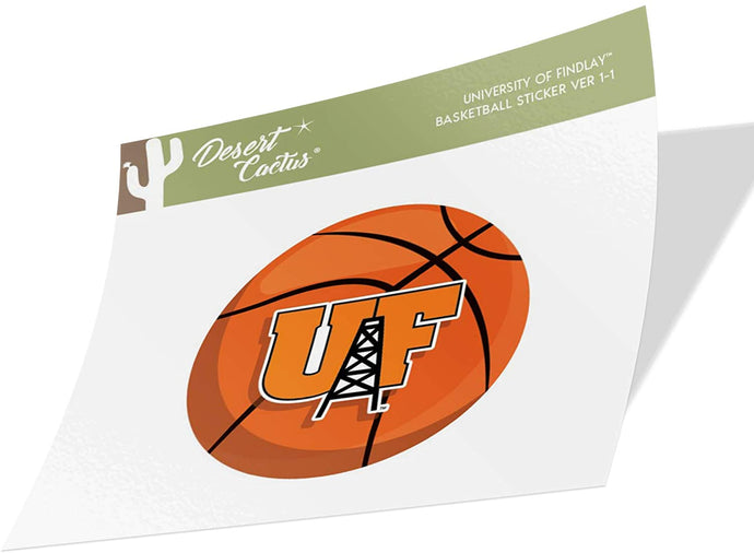 University of Findlay UF Oilers NCAA Vinyl Decal Laptop Water Bottle Car Scrapbook (Basketball Logo Sticker)
