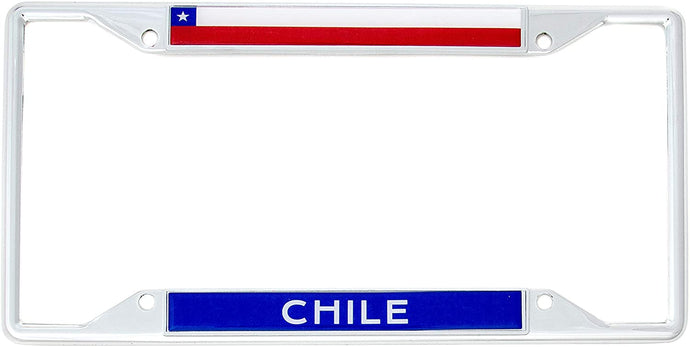 Country of Chile Flag License Plate Frame For Front Back of Car Vehicle Truck Chilean