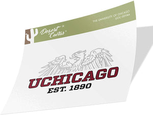 The University of Chicago UChicago Maroons NCAA Vinyl Decal Laptop Water Bottle Car Scrapbook (Sticker - 00114A)