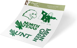 University of North Texas Full Sheet Sticker Vinyl Decal Laptop Water Bottle Car Scrapbook UNT