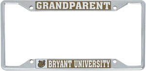 Bryant University Bulldogs NCAA Metal License Plate Frame For Front Back of Car Officially Licensed (Grandparent)