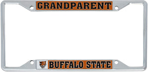 Buffalo State College SUNY Bengals NCAA Metal License Plate Frame For Front Back of Car Officially Licensed (Grandparent)